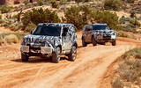 New Land Rover Defender in African desert