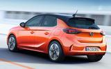 Vauxhall eCorsa rear three quarter leaked photo