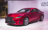 Facelifted Lexus RC unveiled at Paris motor show