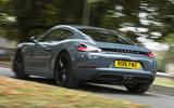Porsche 718 Cayman rear cornering