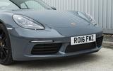 Porsche 718 Cayman front end