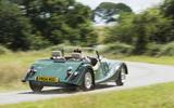 Morgan 80th Anniversary 4/4 rear cornering