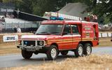 Celebrating 70 years of Land Rover up the Goodwood hill