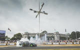 Goodwood festival of speed 2018 - statue burnout