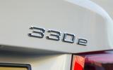 BMW 330e Sport badge