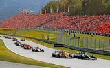 Grand Prix grandstand spectators