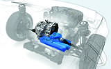 Volkswagen MQ281 gearbox mated to electric motor