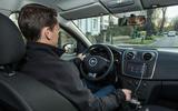 Mark Tisshaw driving the Dacia Sandero Stepway LPG