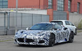 Maserati MC20 spy photos - front left
