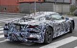 Maserati MC20 spy photos - rear right