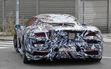 Maserati MC20 spy photos - rear left