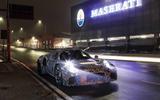 Maserati sports car test mule front side