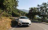 Maserati Quattroporte GTS hard cornering