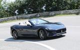 Maserati GranCabrio cornering