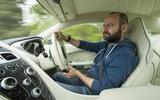 Matt Prior driving the Aston Martin Vanquish S