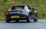 Mazda MX-5 RF 2018 Uk first drive review hero rear