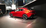Mazda 3 2018 official reveal - LA show floor static rear