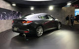 Mazda 3 2018 official reveal - LA show floor static saloon rear