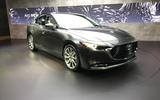 Mazda 3 2018 official reveal - LA show floor static saloon front
