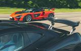 McLaren generations - P1 meets Senna rear