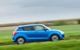 Suzuki Swift Side on the road