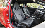RS Megane 275 Cup-S front seats