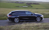 Mercedes CLA Shooting Brake side moving