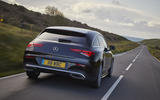 Mercedes CLA Shooting Brake rear close moving