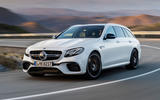 Mercedes-AMG E63 Estate front and side profile