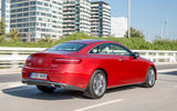 Mercedes-Benz E-Class Coupe E 220 d 4Matic rear three-quarter shot