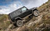 Mercedes-Benx G 500 climbing uphill