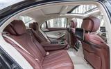 Mercedes-Benz S400d 4Matic reclined rear seats