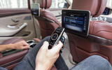 Mercedes-Benz S400d 4Matic rear infotainment system