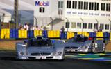 Mark Webber's CLR racecar Le Mans 1999