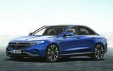 Mercedes-Benz 2022 EQE electric saloon render