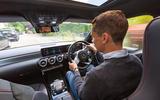 Mercedes-Benz A Class long-term review - A250 over shoulder driving