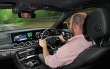 Matt Prior driving the Mercedes-Benz E-Class Estate