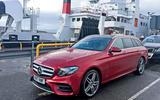 Mercedes-Benz E-Class Estate waiting to board the ferry