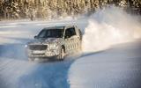 Mercedes-Benz GLB prototype ride 2019 - snow bank cornering