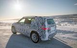 Mercedes-Benz GLB prototype ride 2019 - ice lake rear