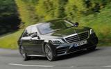 Mercedes-Benz S350d cornering