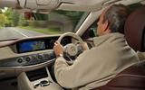 Frankel driving the Mercedes-Benz S350d