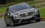 Mercedes-Benz S350d hard cornering