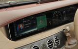 Mercedes-Benz S350d infotainment system