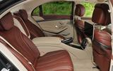 Mercedes-Benz S350d rear seats