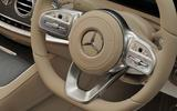 Mercedes-Benz S350d steering wheel