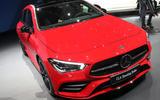 Mercedes CLA Shooting Brake Geneva press stand - front