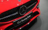 Mercedes CLA Shooting Brake Geneva press stand - bumper