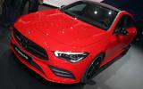 Mercedes CLA Shooting Brake Geneva press stand - nose