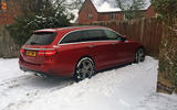 Mercedes E-Class longterm review snow day